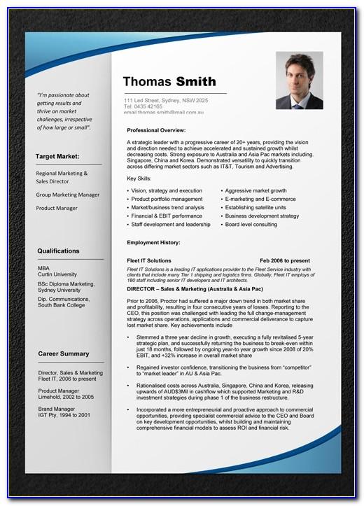 Professional Resume Templates Microsoft Word Australia
