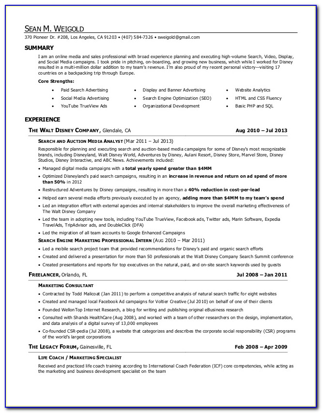 Professional Resume Writer Orlando Florida