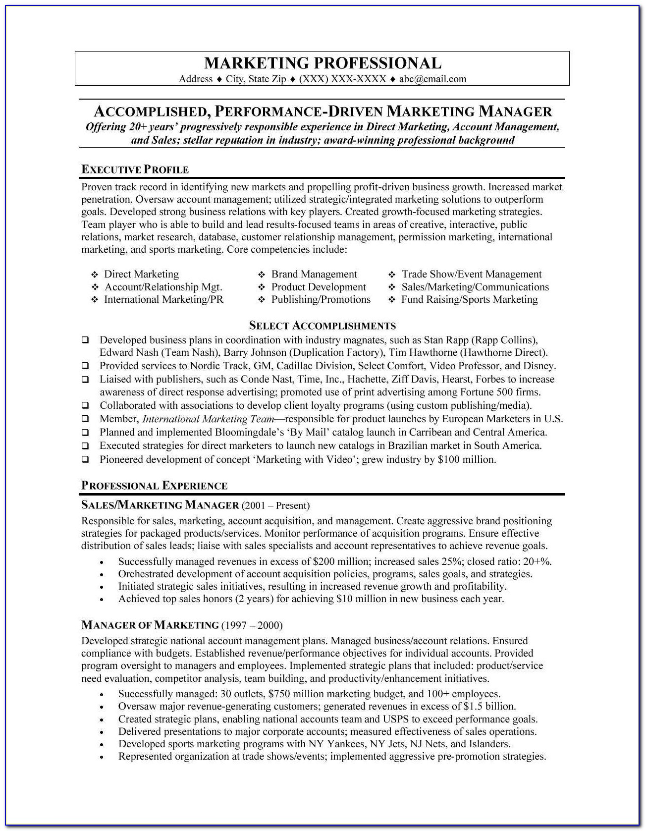 Professional Executive Resume Writers | Free Resume Example And Intended For Professional Executive Resume Samples