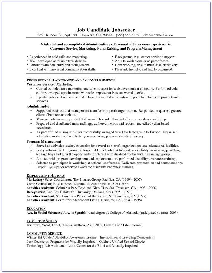 Professional Resume Writers Bay Area