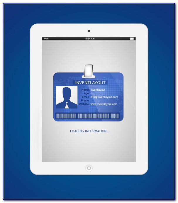 Pvc Id Card Template Psd