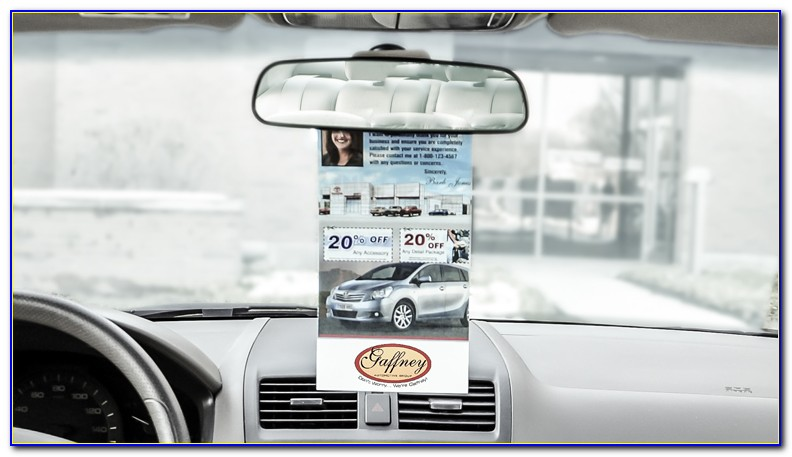 Rear View Mirror Hanging Sign Template