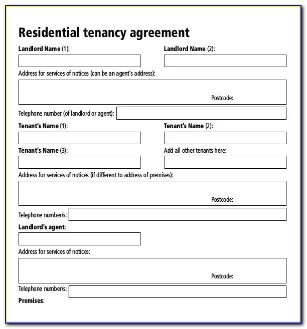 Rental Agreement Template Pdf Free
