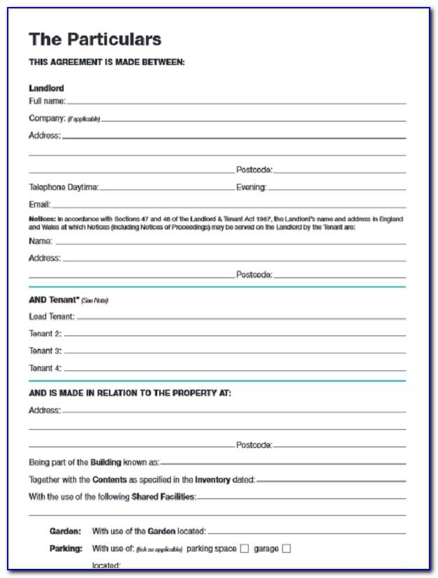 Rental Agreement Template Pdf