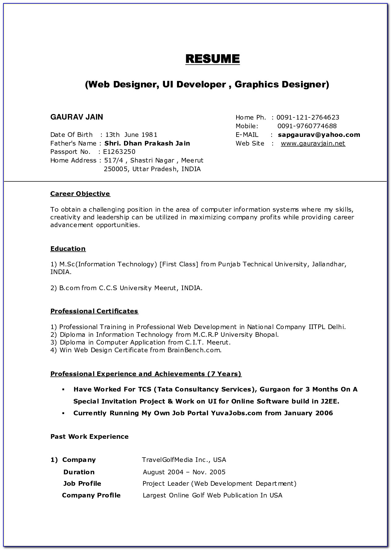 Resume Builder Website Template Free Download