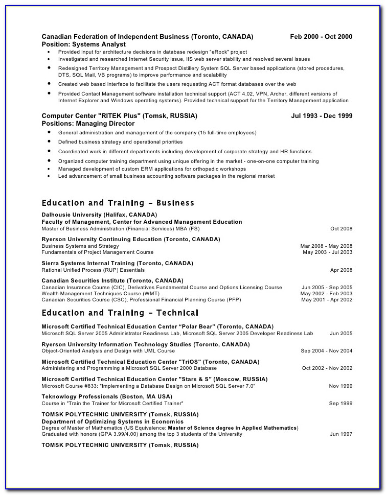 Resume Building Toronto