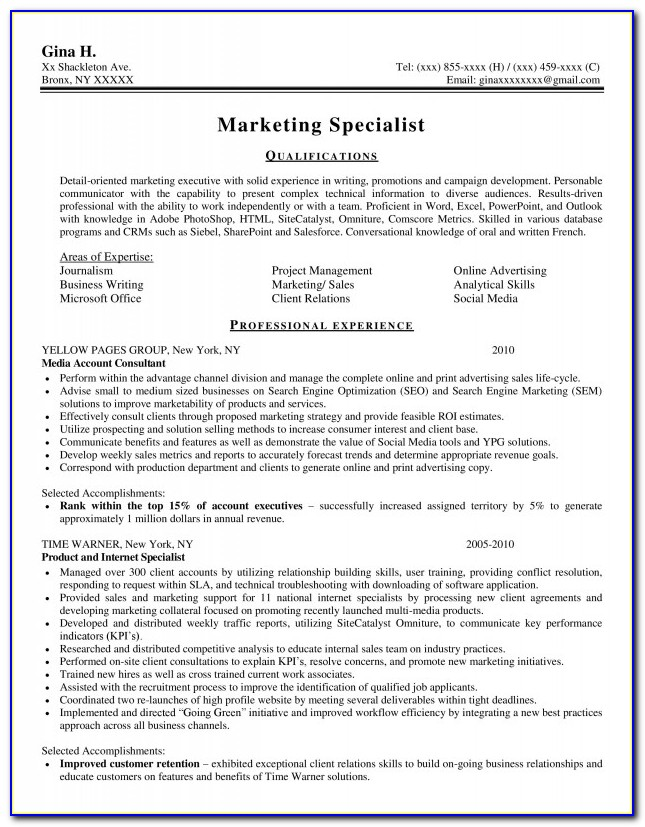Resume Consultant Nyc