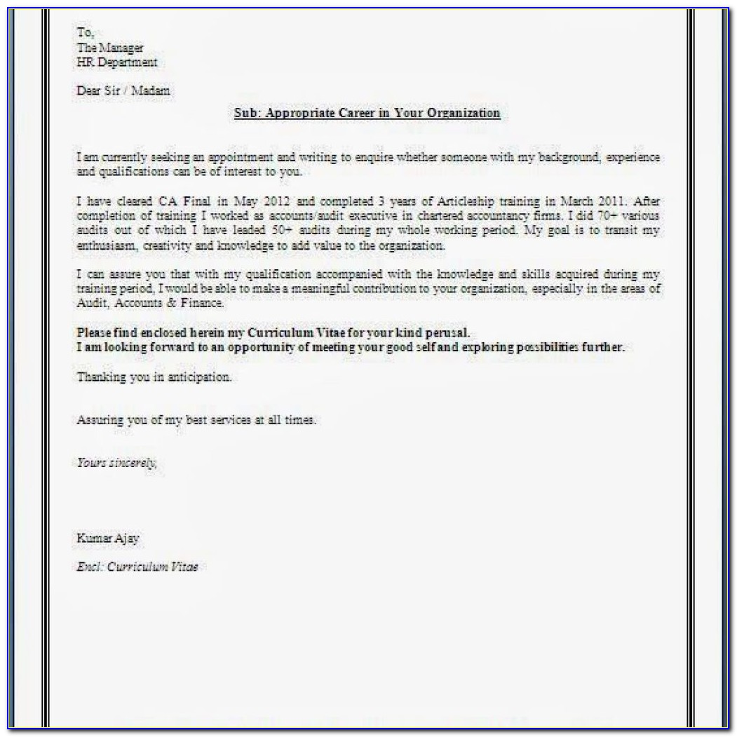 Resume Cover Letters Templates Free