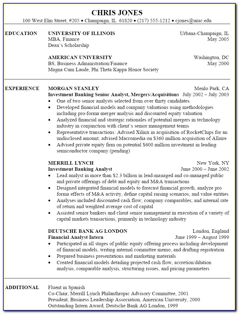 Resume Examples For Banking Customer Service