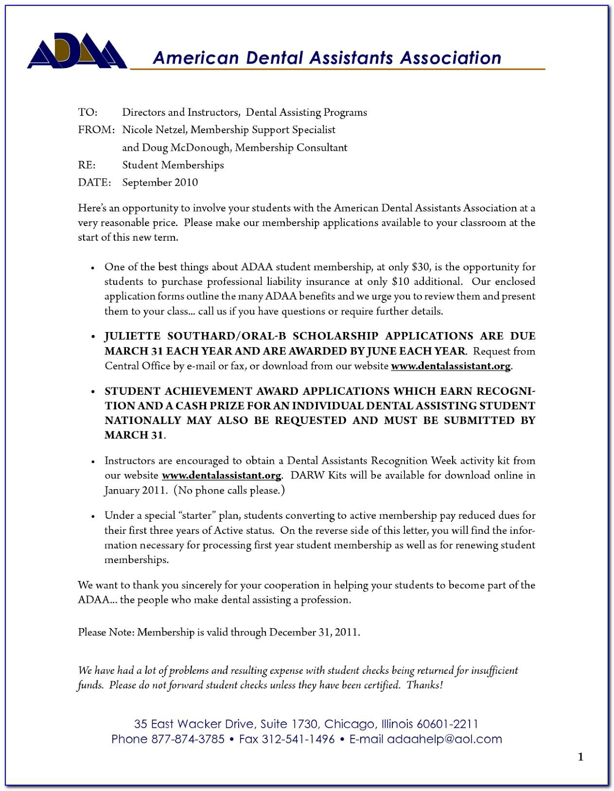 Resume For Dental Assistant Internship