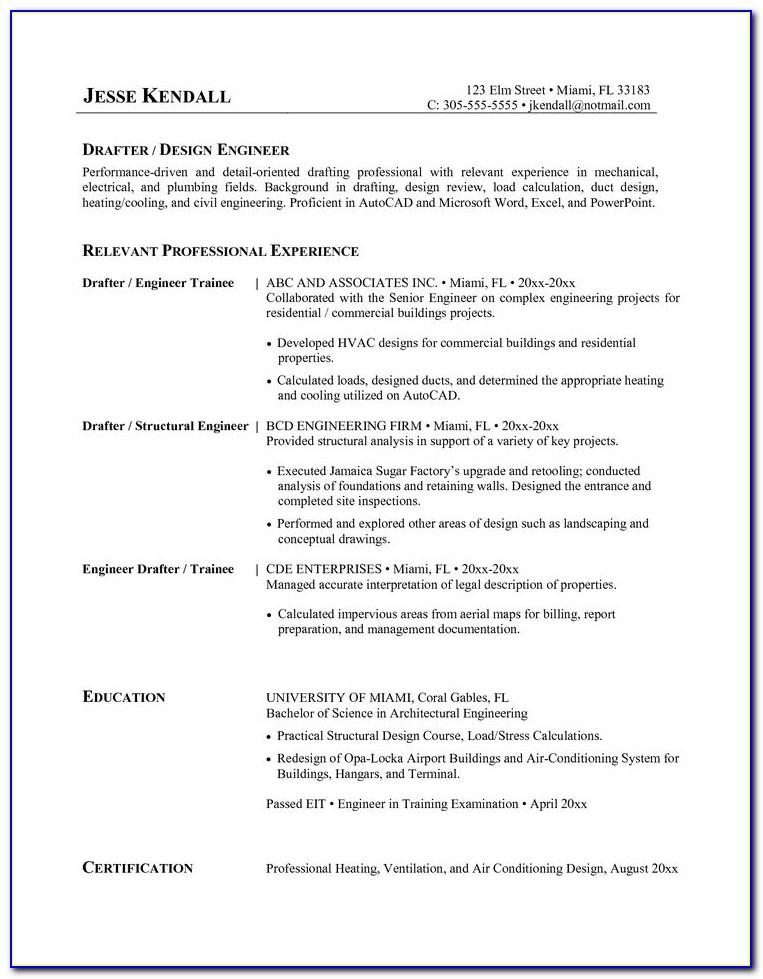 Resume For Hvac Apprentice