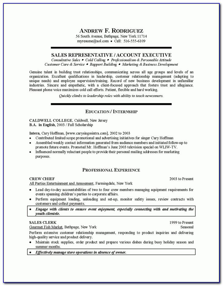 Resume For Recent College Graduate Template