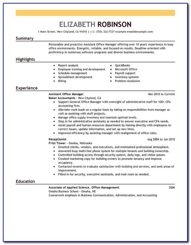 Resume Format For Assistant Manager Logistics