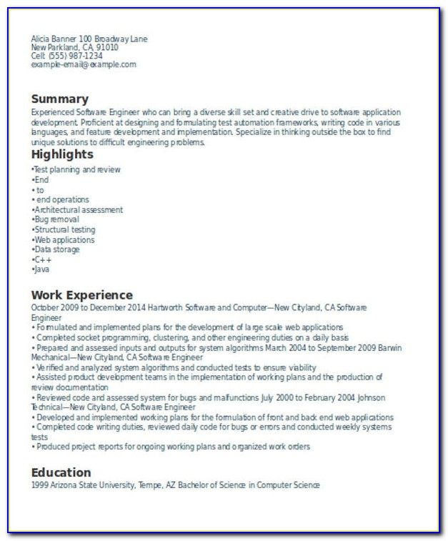 Experienced Resume Format Template 8 Free Word Pdf Format Resume Format For Experienced Engineers Resume Format For Experienced Engineers