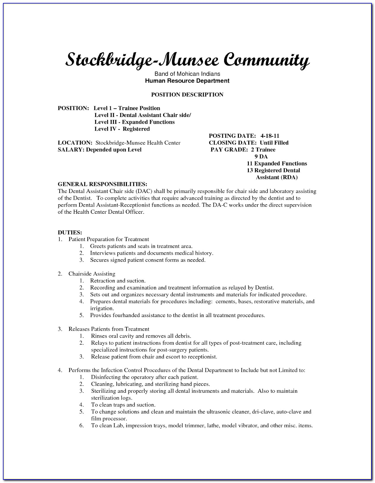 Resume Objective Examples Dental Assistant