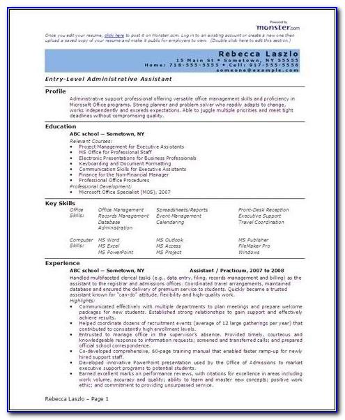 Resume On Microsoft Word 2013
