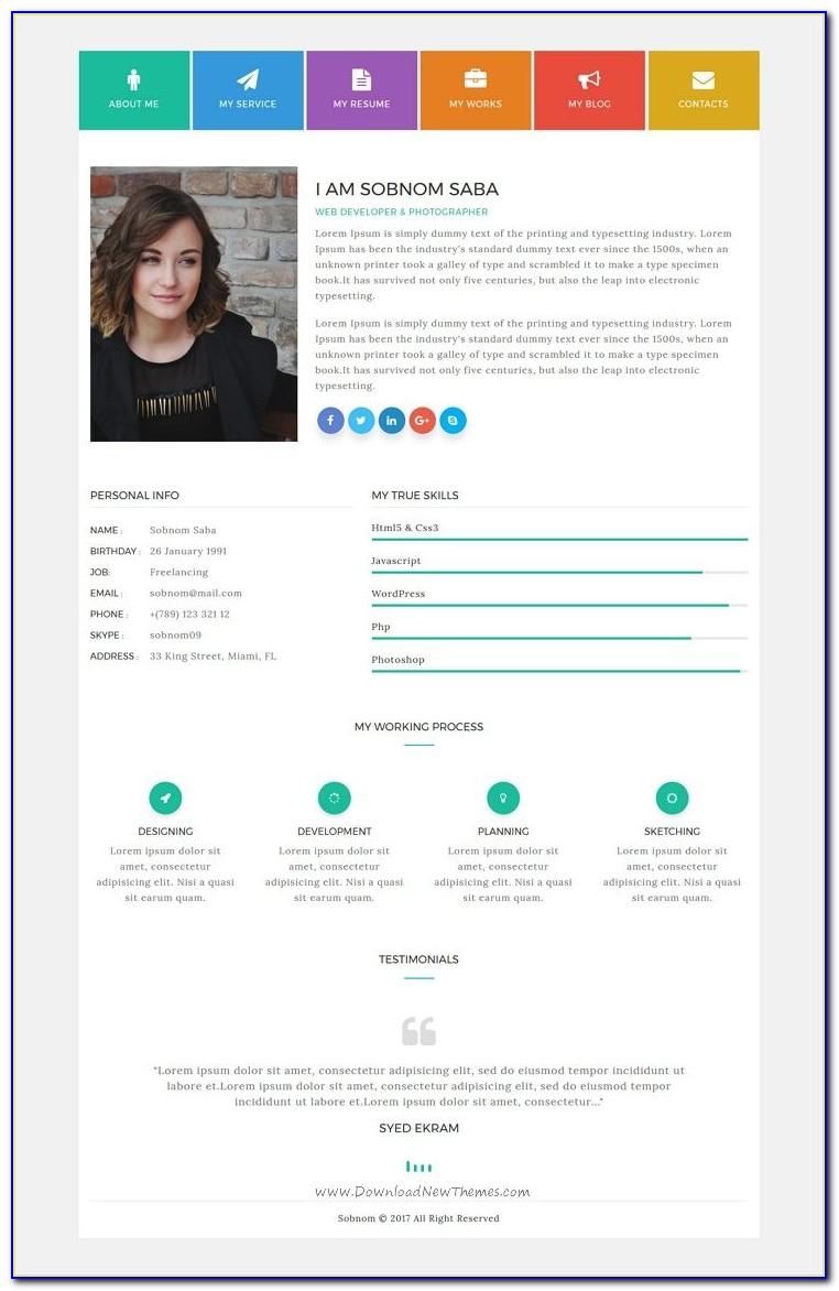Resume Portfolio Website Template