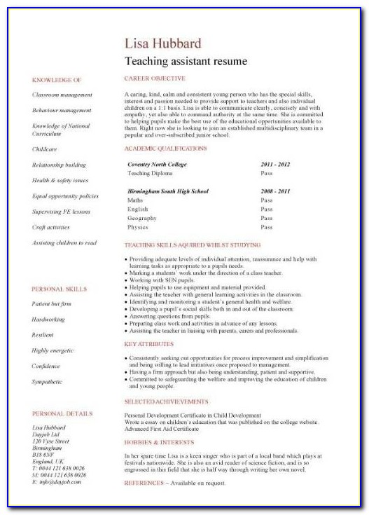 Resume For Teachers With No Experience Commonpence.co For New Teacher Resume No Experience