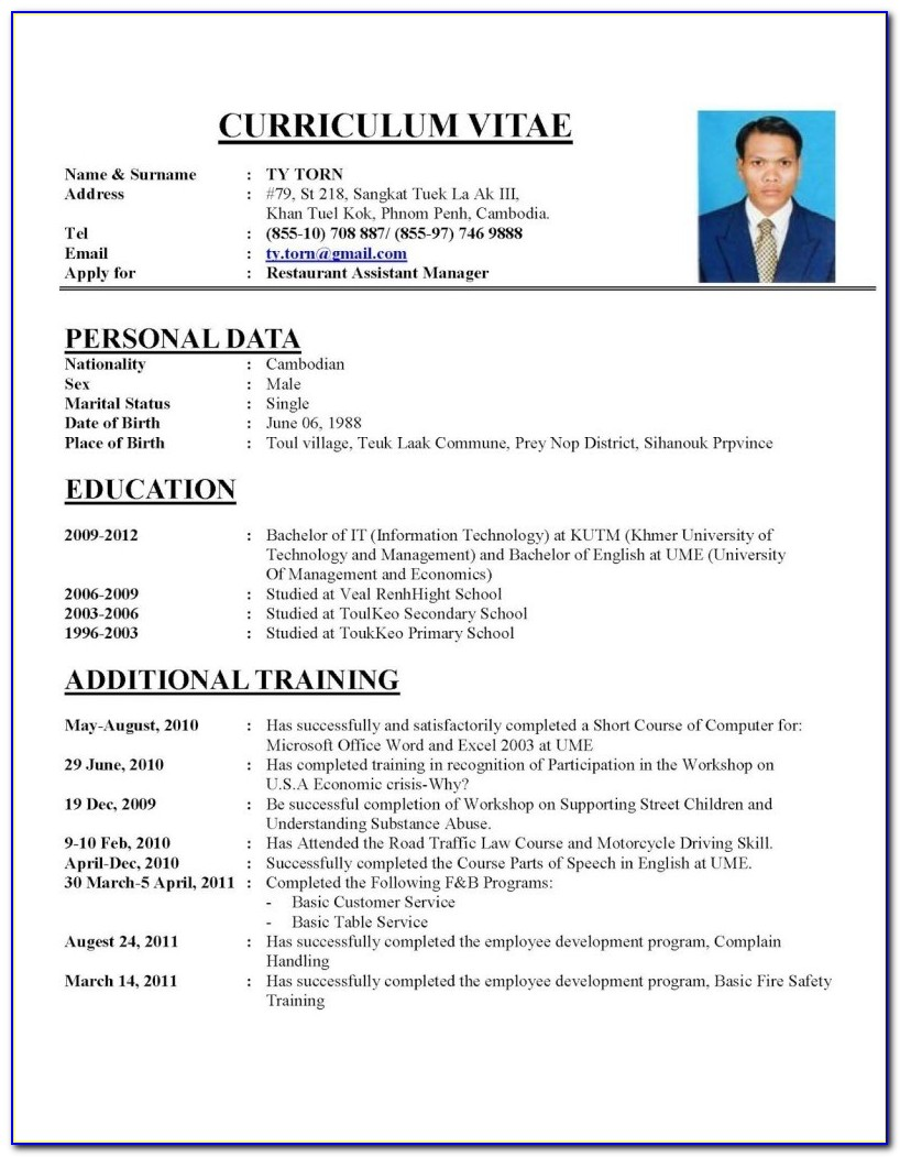 Resume Curriculum Vitae Template Free Resume Templates Editable Cv Format Download Psd File Within 93 Amazing Curriculum Vitae