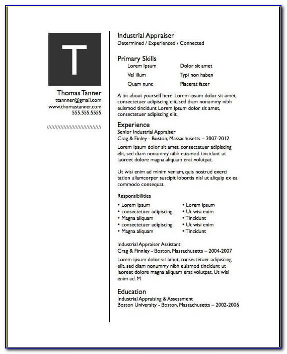 Resume Template For Pages Free