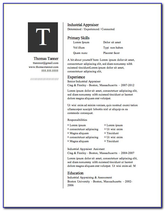 Resume Template Free Download Word 2018