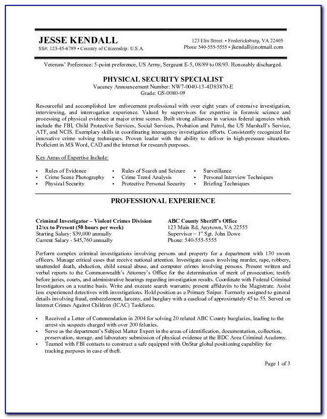 Usajobs Federal Resume Sample Government & Military Resume For Usa Jobs Resume Builder