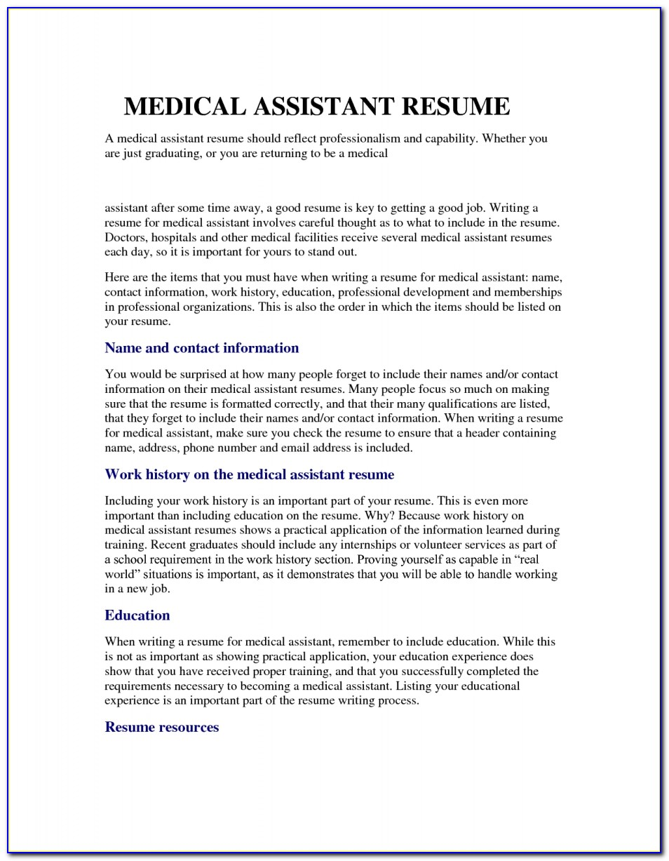 Entry Level Medical Assistant Resume Samples Entry Level Medical Assistant Resume Samples Sample Resume Template