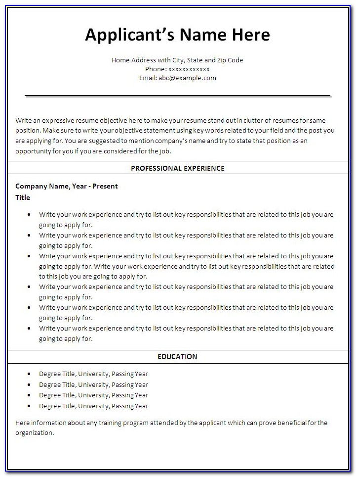 Resume Templates For Nurses Australia