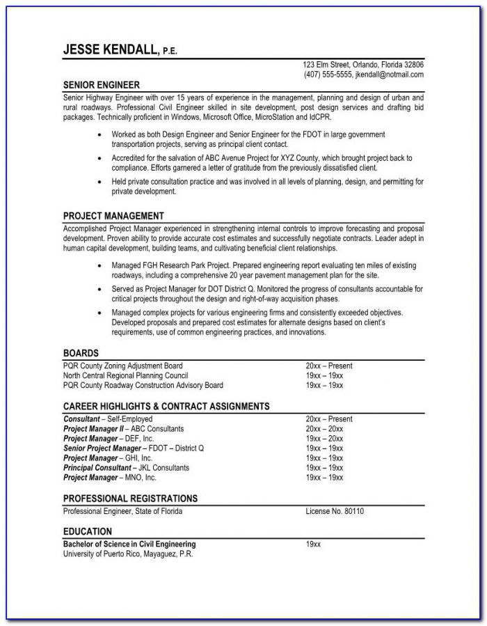 Resume Templates For Professional