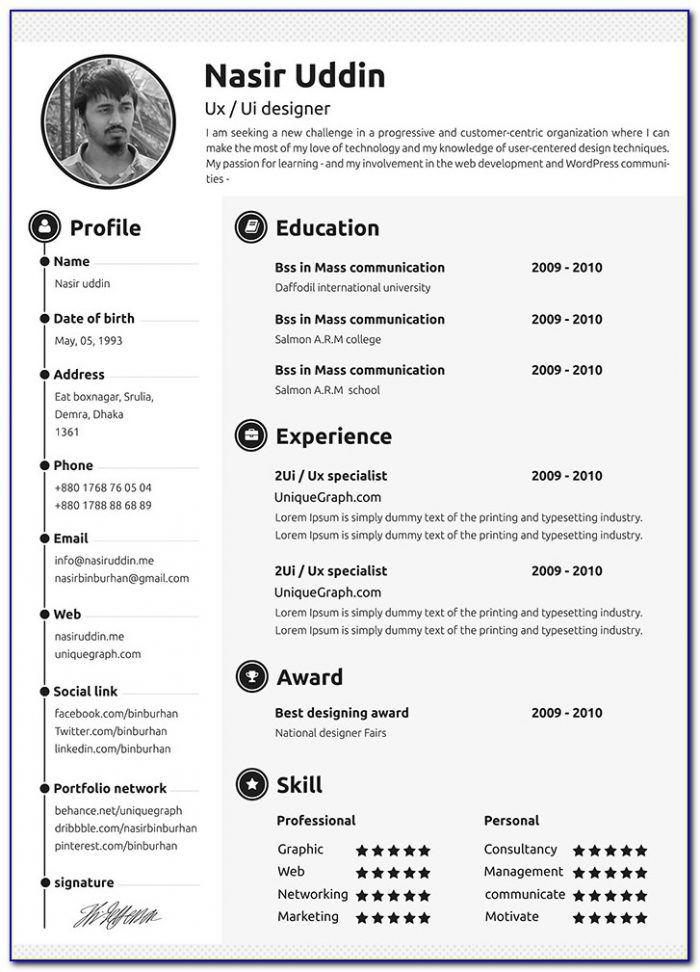 Resume Templates Online Best