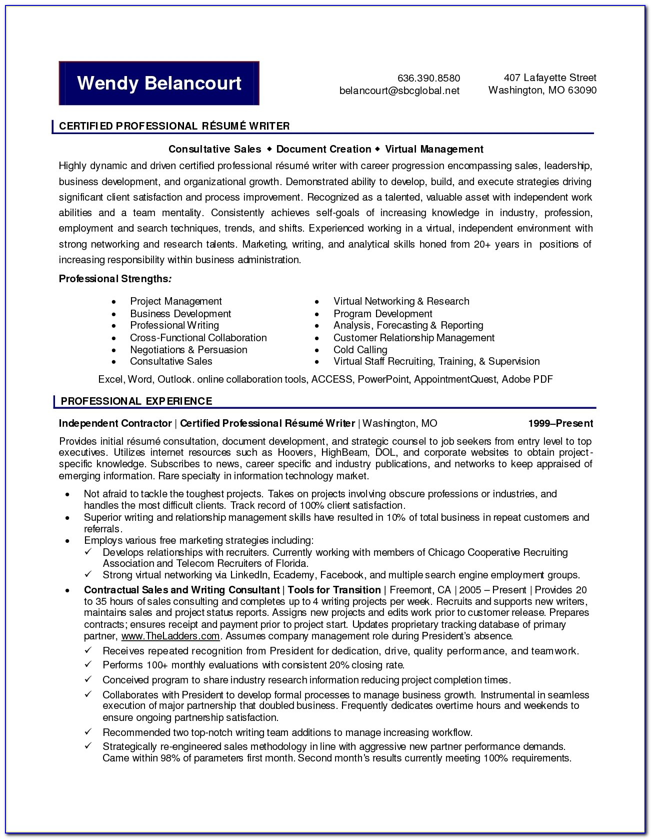 Certified Professional Resume Writer Z5arf