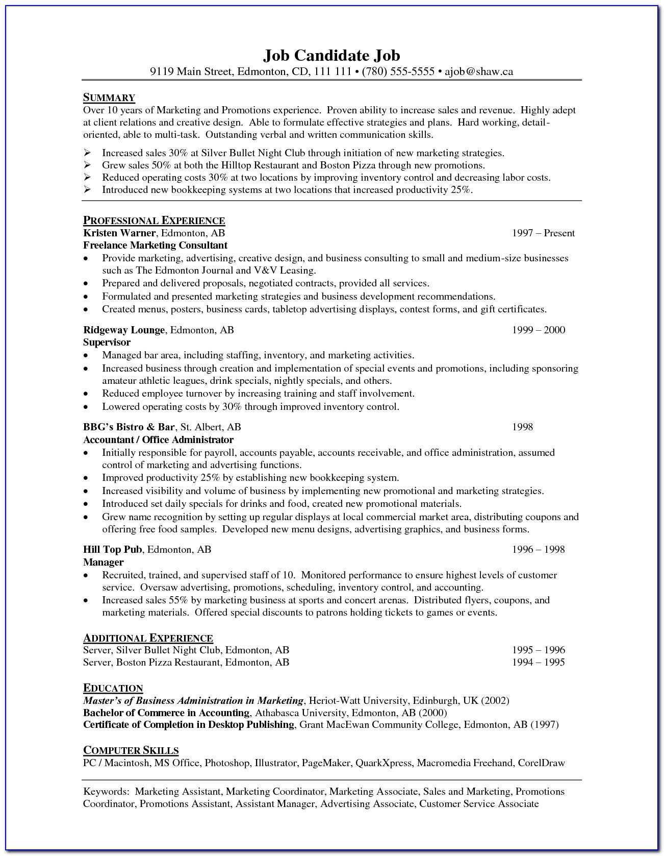 Resume Writing Consultant In Chennai