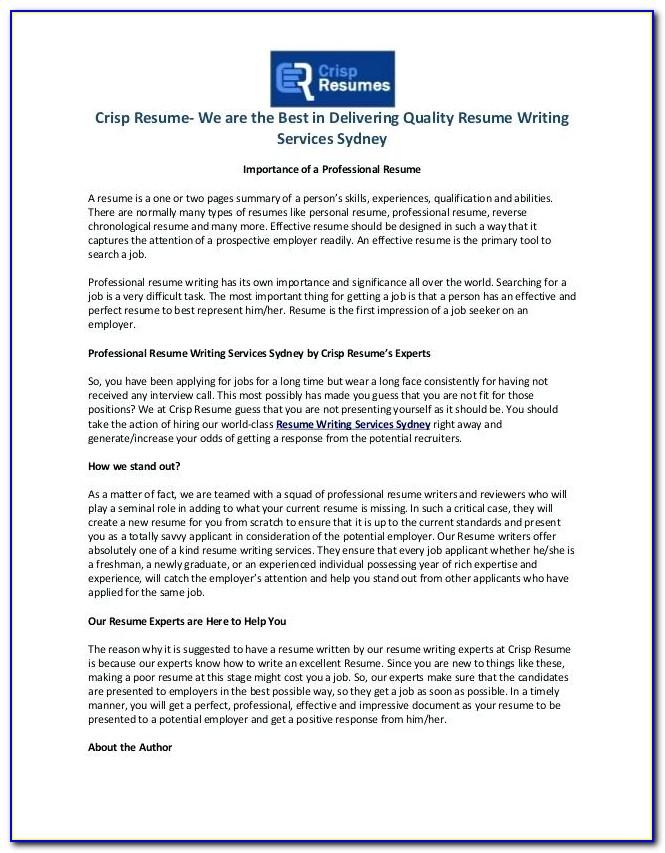 Resume Writing Experts In Delhi