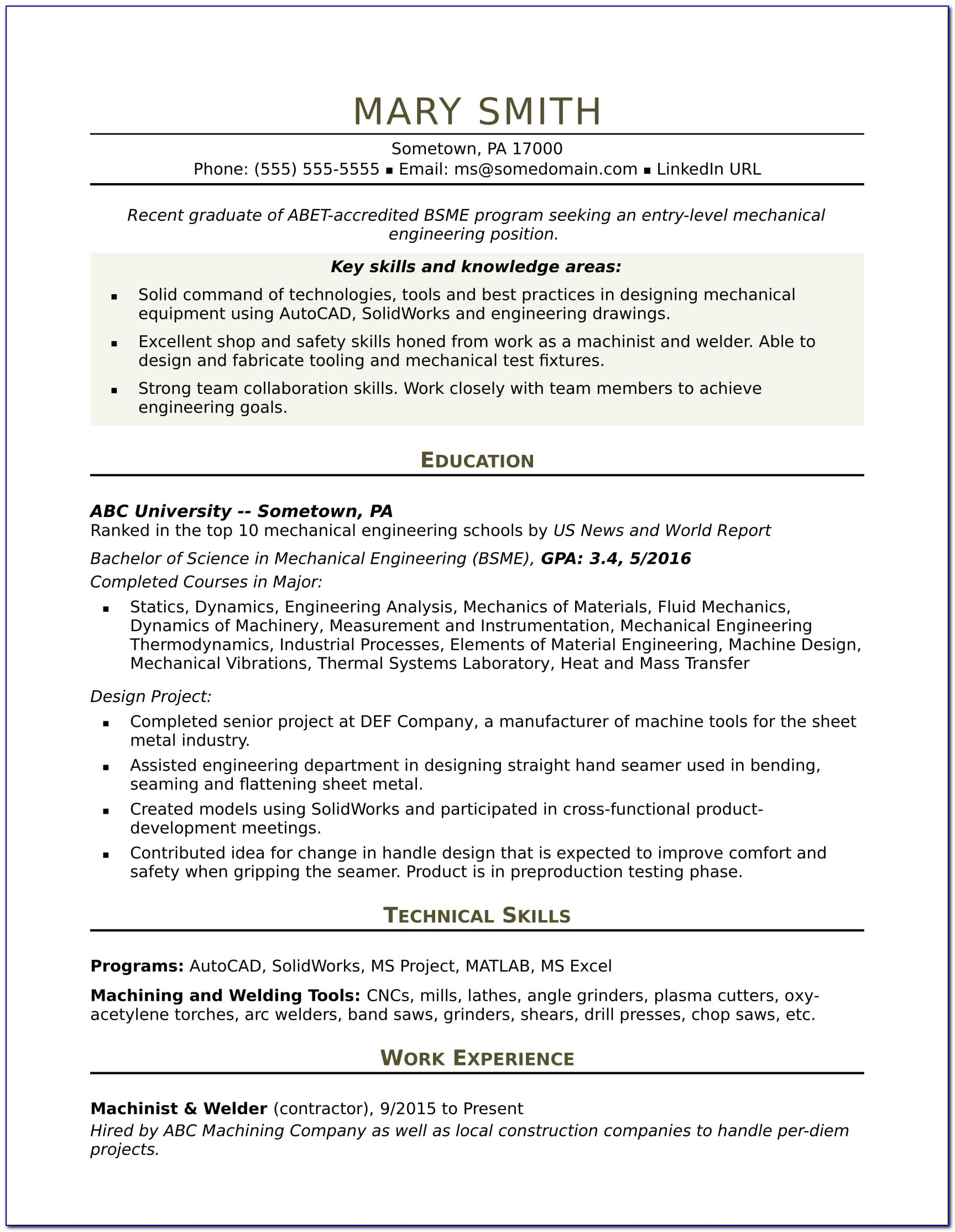 Resume Writing For Civil Engineers