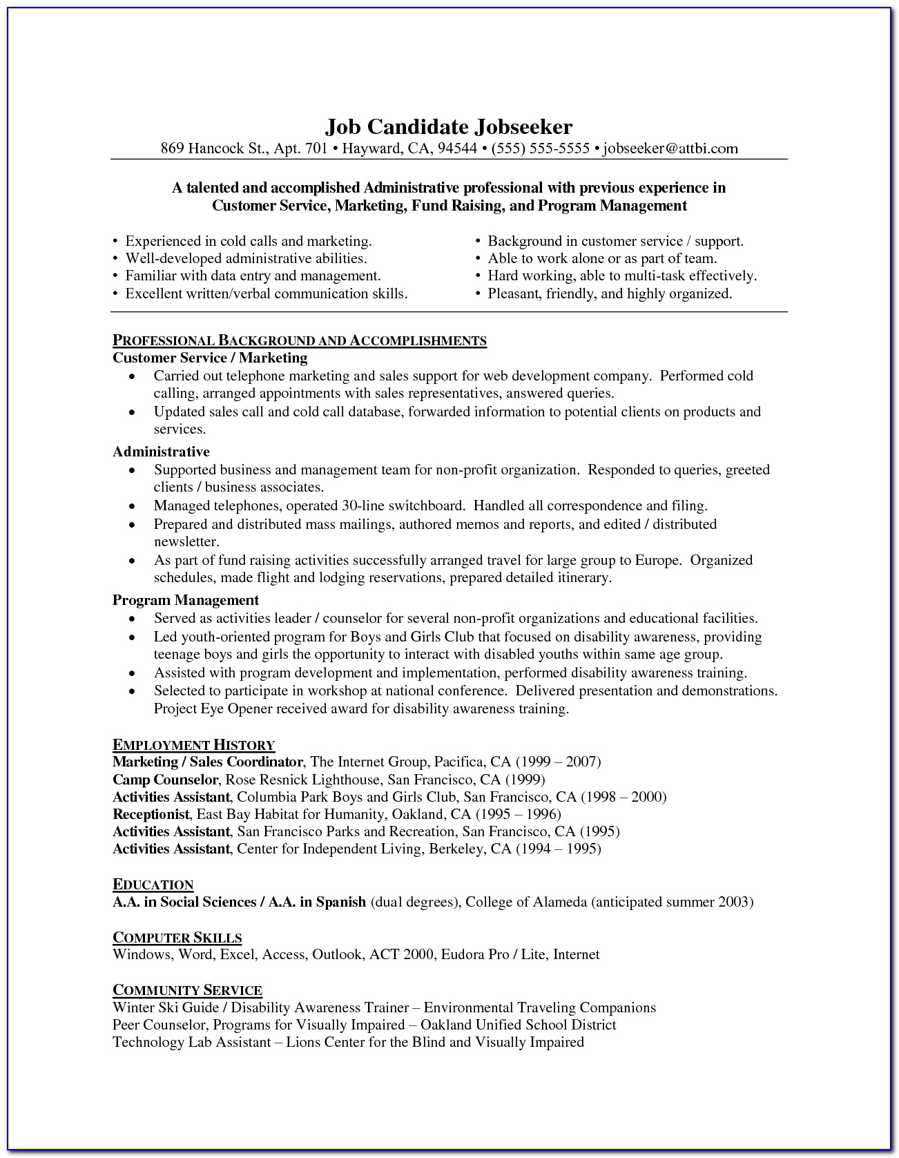 Resume Writing For Older Professionals