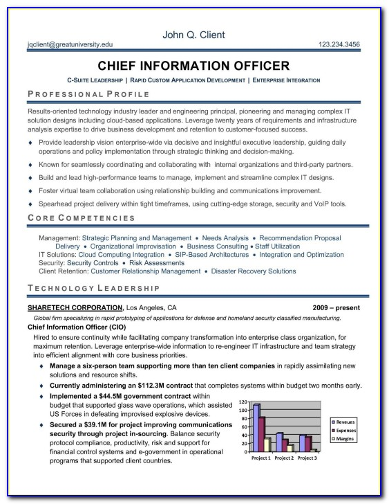 Resume Writing For Senior Executives
