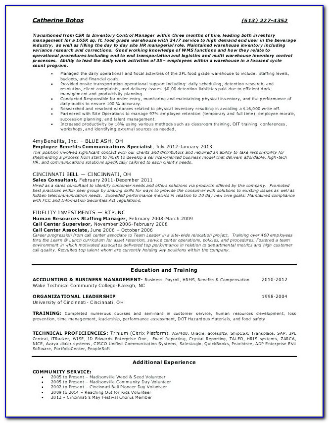 Resume Writing Services Cincinnati Oh