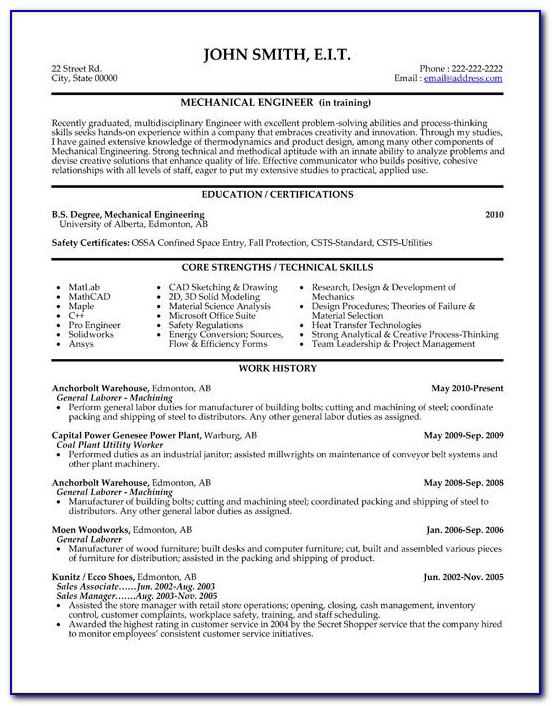 Resume Writing Tips For Engineers
