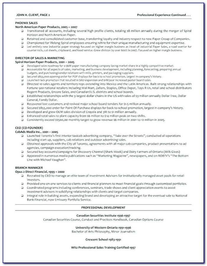 Resumes For Older Executives