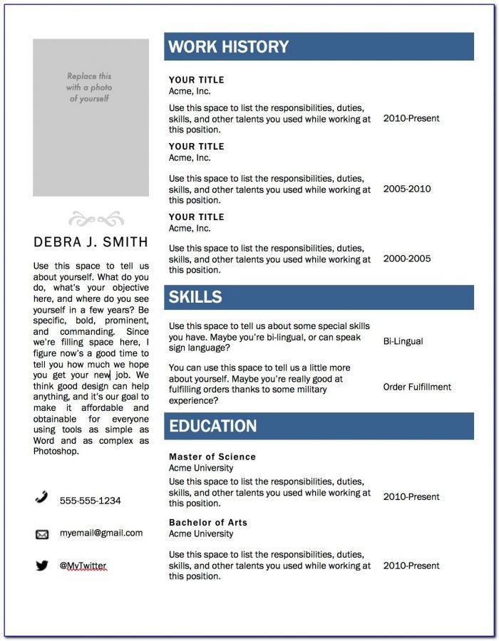Resumes On Microsoft Word 2010