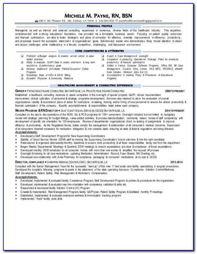 Rn Bsn Resume Objective
