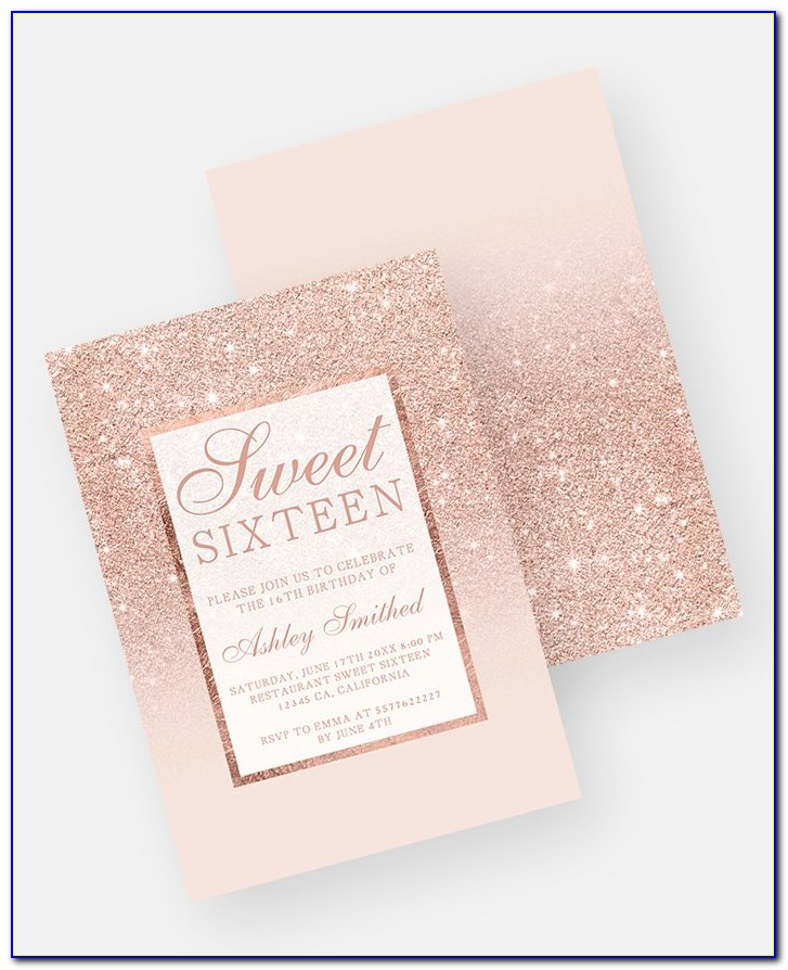 Rose Gold Birthday Invitation Template