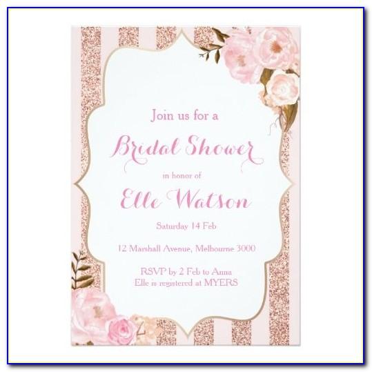 Rose Gold Glitter Invitation Template