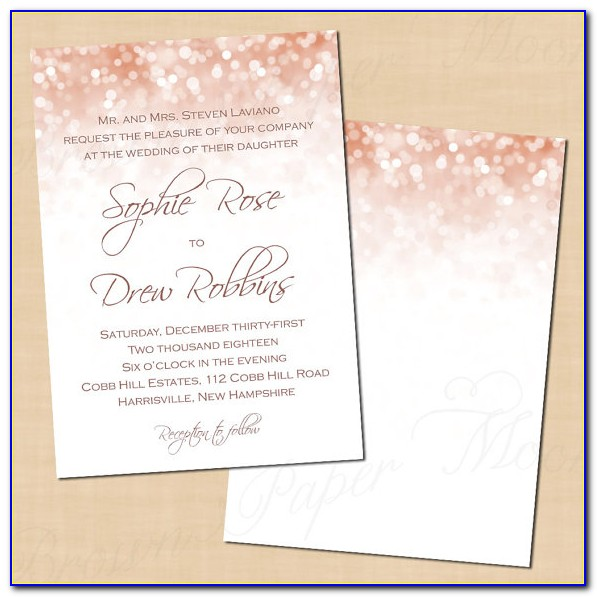 Rose Gold Invitation Template Free