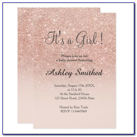 Rose Gold Sweet 16 Invitation Templates