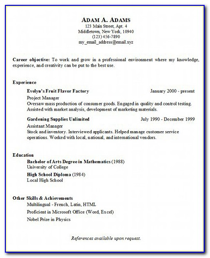 Sample Copy Of Customer Service Resume
