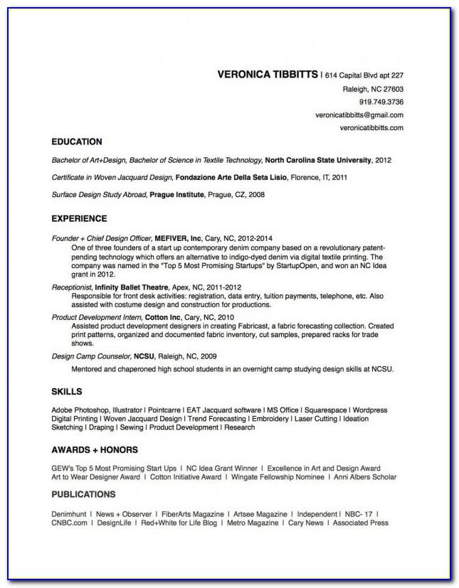 Sample Copy Of Resume Format