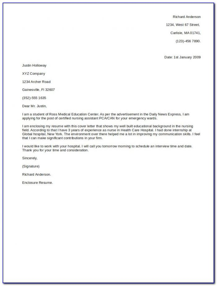 Sample Email For Resume And Cover Letter