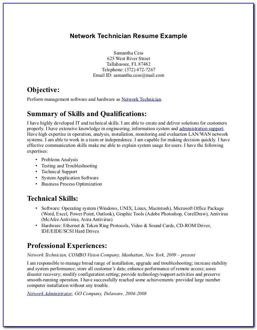 Sample Of Pharmacy Tech Resume