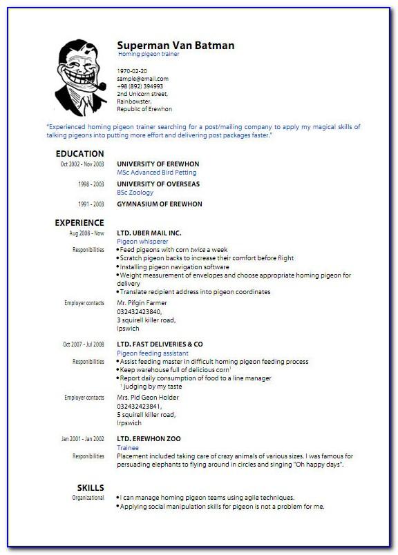 Sample Resume For Fresh Graduate Free Download